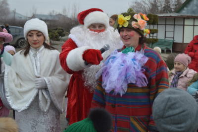 Дед Мороз и Снегурочка на детской елке в ЭБЦ