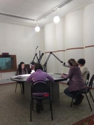 Актёры Экологического театра РДЭБЦ в рамках проекта «ДРЭВ» (Детское радио экологического вещания)